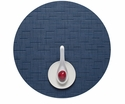 Chilewich Bamboo Placemat 15 Round Lapis