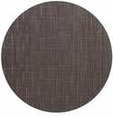 Chilewich Bamboo Table Mat 15 Round - Chocolate