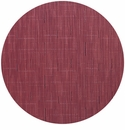 Chilewich Bamboo Table Mat 15 Round - Cranberry