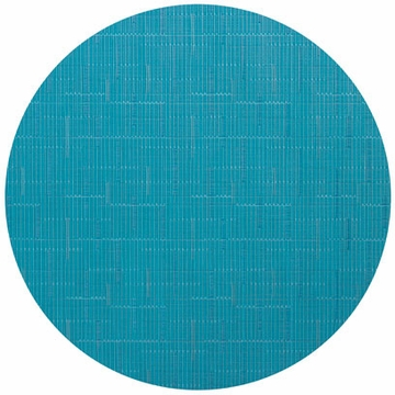 Chilewich Bamboo Table Mat 15 Round - Teal