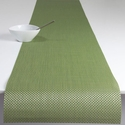 Chilewich Basketweave Table Runner 14x72 - Grass Green
