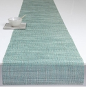 Chilewich Lattice Table Runner 14x72 - Aqua