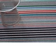 Chilewich Mixed Stripe Shag Utility Mat 24X3 Candy