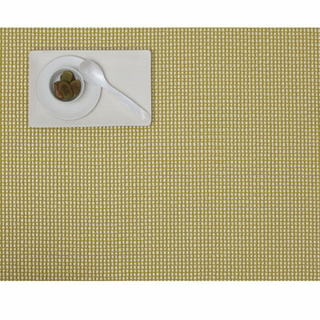 Chilewich Rectangle Chartreuse Grid Placemat 14x9