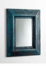 Chinito Blue Wood Wall Mirror by Cyan Design