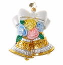 Christopher Radko Bells and Blossoms Wedding Bells Ornament