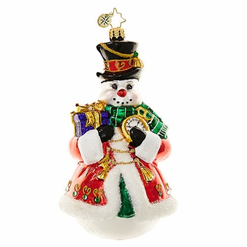 Christopher Radko Chilly Resplendence Snowman Ornament