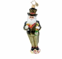 Christopher Radko Christmas Ornament - New Year's Nick Santa Claus