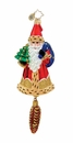Christopher Radko Christmas Ornament - Woodland Wanderer Santa Claus