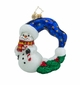 Christopher Radko Cool Chaplet Snowman Wreath Ornament