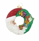 Christopher Radko Crescent Christmas Presents Santa Claus Ornament