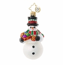 Christopher Radko Frosty's Trimmings Little Gem Snowman Ornament