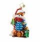 Christopher Radko Gifts on the Sly Fox with Santa Hat Ornament