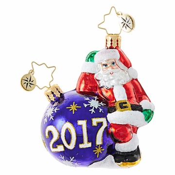 Christopher Radko Having A Ball Little Gem Santa 2017 Ornament