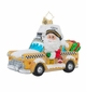 Christopher Radko Holiday on Broadway Santa Claus in Taxi Ornament