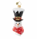 Christopher Radko It's Chilly At the Top Snowman Ornament