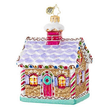 Christopher Radko Jewel of a Ginger Gingerbread House Ornament