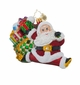 Christopher Radko Leap into the Holidays Santa Claus Ornament