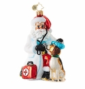 Christopher Radko Paging Dr. Claus Ornament