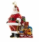 Christopher Radko Ready to Go! Santa Claus with Sled and Presents Ornament