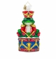 Christopher Radko Ribbitt Rhythm Frog with Drum Ornament
