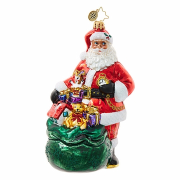 Christopher Radko Sack Full of Splendor Santa Claus Ornament