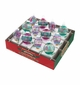 """Christopher Radko Shiny Brites Vintage Celebration 1.75"""" Clear Rounds and Shapes with Tinsel"""