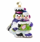 Christopher Radko Skating Snowman Couple Our First Christmas Ornament