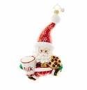 Christopher Radko Snack Time Santa Ornament - Santa Claus with Cookies & Milk