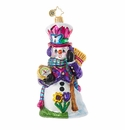 Christopher Radko Time for Spring, Snowman! Ornament