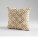 Circle Of Life Taupe Decorative Pillow by Cyan Design