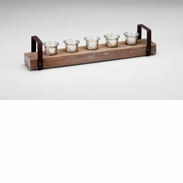 Clifton Wood Candleholder by Cyan Design