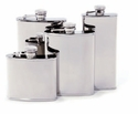 Concord 4 Oz. Whiskey Flask - Mirror Polished