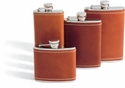 Concord 6 Oz. Whiskey Flask - Saddle Tan Leather