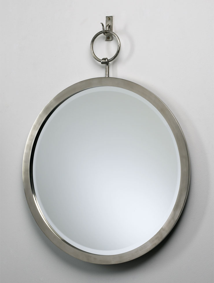 Contemporary round hanging wall mirror by cyan design for Hanging mirror