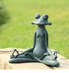 Contented Yoga Frog Garden Sculpture by SPI Home