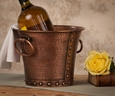Dessau Home Copper Finish Riveted Planter 9D 7H Home Decor