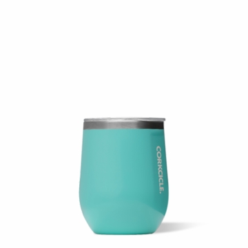 Corkcicle 12 oz Stemless Wine Glass Turquoise