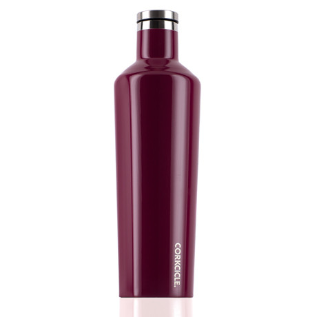 Corkcicle glossy merlot insulated water bottle 25 oz for Decor water bottle