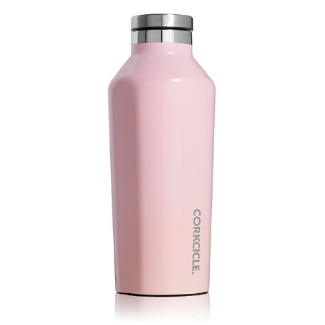 corkcicle rose quartz 9 oz insulated water bottle