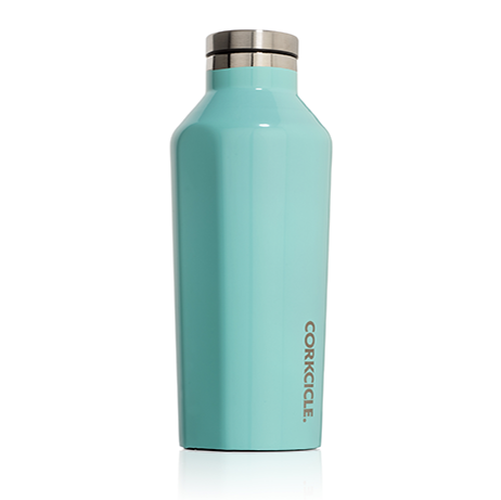 corkcicle turqouise 9 oz water bottle