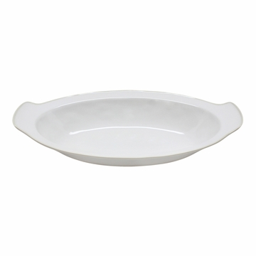 Costa Nova Astoria 16.25'' Oval Gratin - White