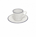 Costa Nova Beja Coffee Cups & Saucers Set Of 6 - White