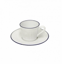 Costa Nova Beja Tea Cups & Saucers Set Of 6 - White