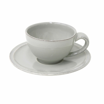 Costa Nova Friso Coffee Cups & Saucers Set Of 6 - Grey