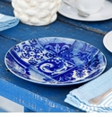 Costa Nova Lisboa Set of 4 Salad Plates - Tiles