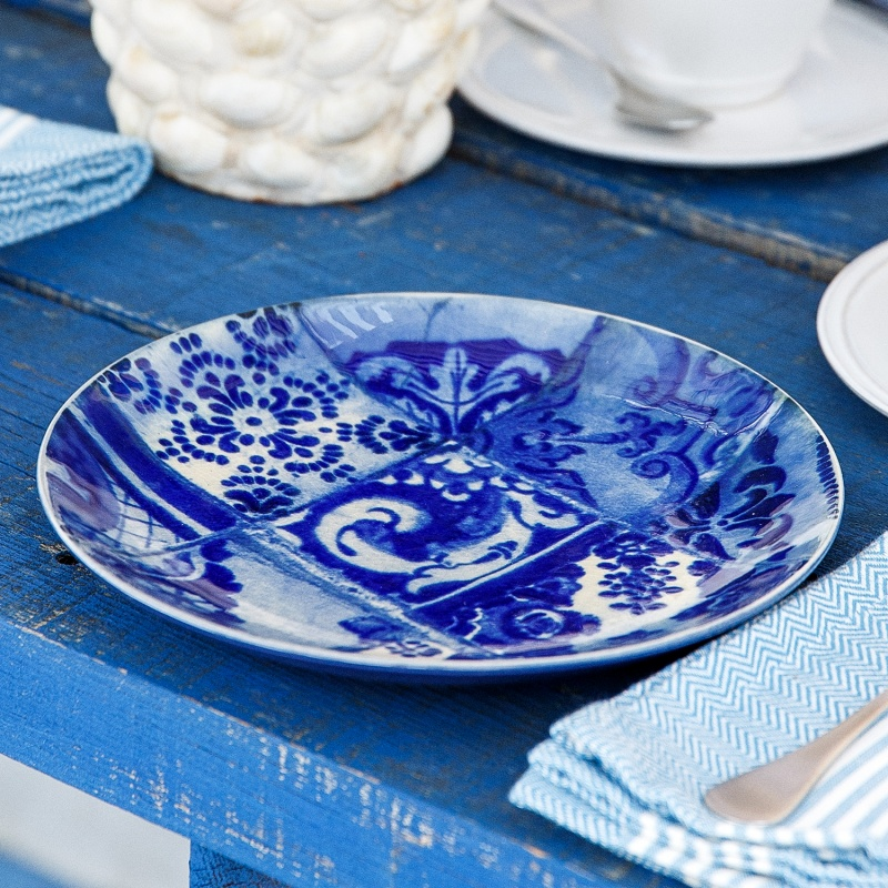 & Costa Nova Lisboa Set of 4 Salad Plates - Tiles