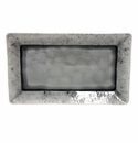 "Costa Nova Madeira 15.75"" Rectangular Tray - Grey"
