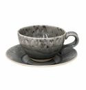 Costa Nova Madeira Tea Cups & Saucers Set Of 6 - Grey