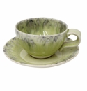 Costa Nova Madeira Tea Cups & Saucers Set Of 6 - Lemon
